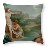 Diana And Actaeon Throw Pillow