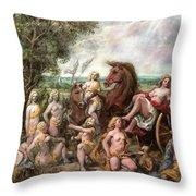 Diana And Entourage Throw Pillow