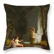 Diana At The Fountain Throw Pillow