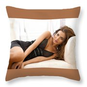 Diana Morales Throw Pillow