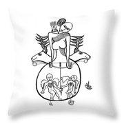 Diane A La Chasse Throw Pillow
