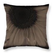 Diatrop Three Quarter Sunflower Throw Pillow
