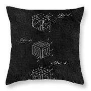 Dice Cube Patent Throw Pillow