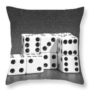 Dice Cubes II Throw Pillow