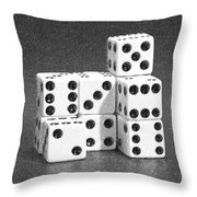 Dice Cubes IIi Throw Pillow by Tom Mc Nemar