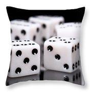 Dice I Throw Pillow by Tom Mc Nemar