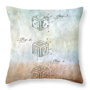 Dice Patent Throw Pillow