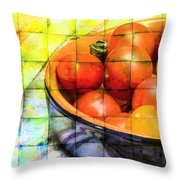Diced Tomatoes Throw Pillow