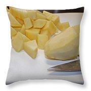 Dicing Potatoes I Throw Pillow