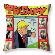 Dick Trumpy Throw Pillow