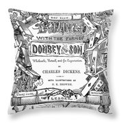 Dickens: Dombey And Son Throw Pillow