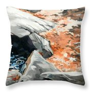 Dick's Creek Leaf Jam Throw Pillow