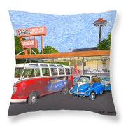 Dicks Drive In Seattle Throw Pillow