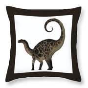 Dicraeosaurus Dinosaur Tail Throw Pillow