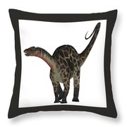 Dicraeosaurus On White Throw Pillow