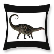 Dicraeosaurus Side Profile Throw Pillow