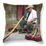 Didgeridoo Performer Throw Pillow