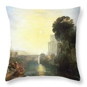 Dido Building Carthage Throw Pillow