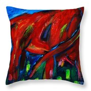 Die Bunte Kuh Throw Pillow