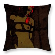 Die Zofe Throw Pillow by Sandra Hoefer