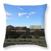 Diesel Train Engines Throw Pillow