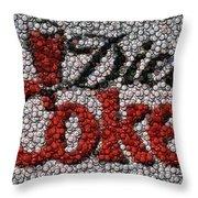 Diet Coke Bottle Cap Mosaic Throw Pillow