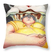 Diet Dilemma Throw Pillow