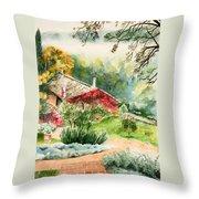 Dievole Vineyard In Tuscany Throw Pillow