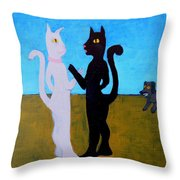Different Camps Throw Pillow