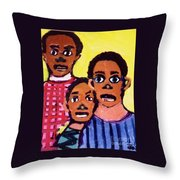 Different Drums Throw Pillow