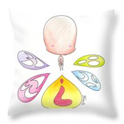 Different Faces Throw Pillow