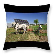 Different Times Three  Throw Pillow