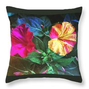Different Twins Throw Pillow