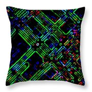 Diffusion Component Throw Pillow