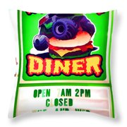Digger's Diner Throw Pillow