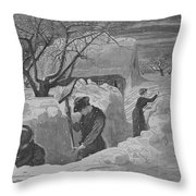 Digging Out Throw Pillow