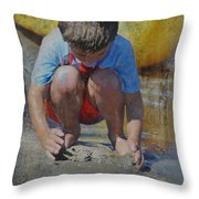 Digging To China 2 Throw Pillow by Kate Word