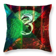 Digit 3 Throw Pillow