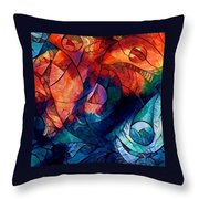 Digital Abstract 2 Throw Pillow