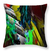 Digital Abstraction 070611 Throw Pillow