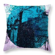 Digital Abstraction Throw Pillow