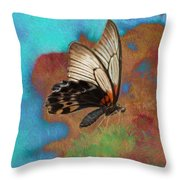 Digital Art Butterfly Throw Pillow