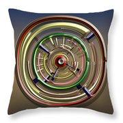 Digital Art Dial 4 Throw Pillow