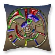 Digital Art Dial 6 Throw Pillow