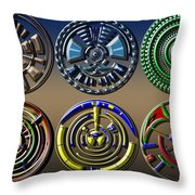 Digital Art Dials Throw Pillow