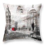 Digital-art London Composing Throw Pillow