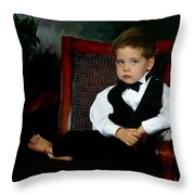 Digital Art Painting Of My Son Throw Pillow