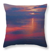 digital art   SUNSET SEASIDE Throw Pillow