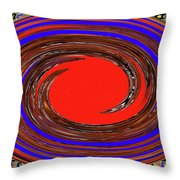 Digital Blue Red Plate Special Throw Pillow