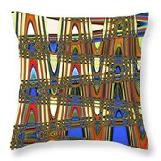Digital Broad Paint Abstract Throw Pillow